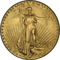 Złota moneta 20 dolarów, Double Eagle - awers
